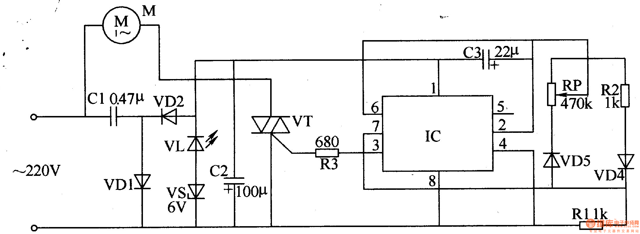 Fan Speed Controller Diagram 1 Automatic Control Circuit Basictriacswitches Controlcircuit Seekiccom