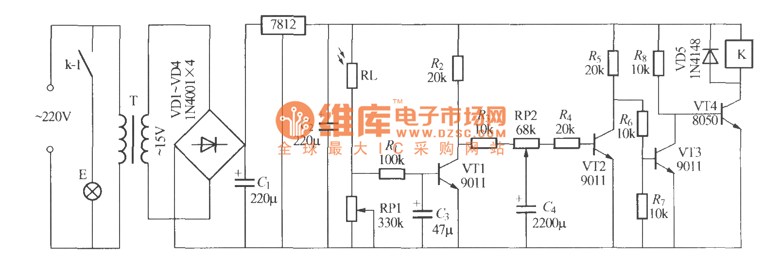 Simple Light Operated Street Lamp Circuit Diagram6 Make Diagram