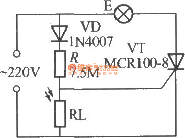 Simple Light Operated Street Lamp Circuit Diagram 1