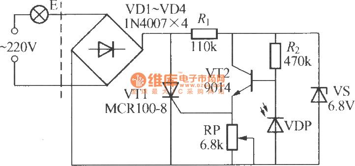 Simple light-operated street lamp circuit diagram(3 ...