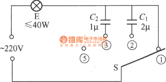 capacitive dimmer switch circuit  1