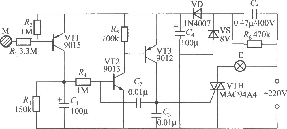 touch lamp switch circuit