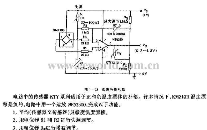 the temperature compensation circuit amplifier circuit circuit diagram seekic
