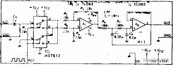 simplified synchronous detection circuit by using analog switch and differential amplifier