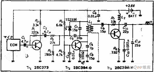 vhf-band fm circuit of variable capacitance diode