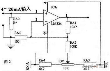 4-20 mA Input and 5 V Output I/V Switching Circuit of LM324 ...  To V Og Output Wiring Diagram on
