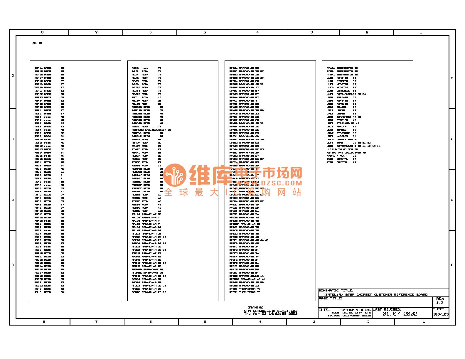 The 875p Computer Main Board Circuit  107  - Amplifier Circuit - Circuit Diagram