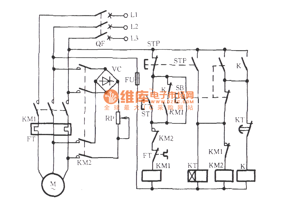 Three Phase Motor For Jog Brake Circuitb Relay Control Voltagecontrolledresistor Measuringandtestcircuit Circuit