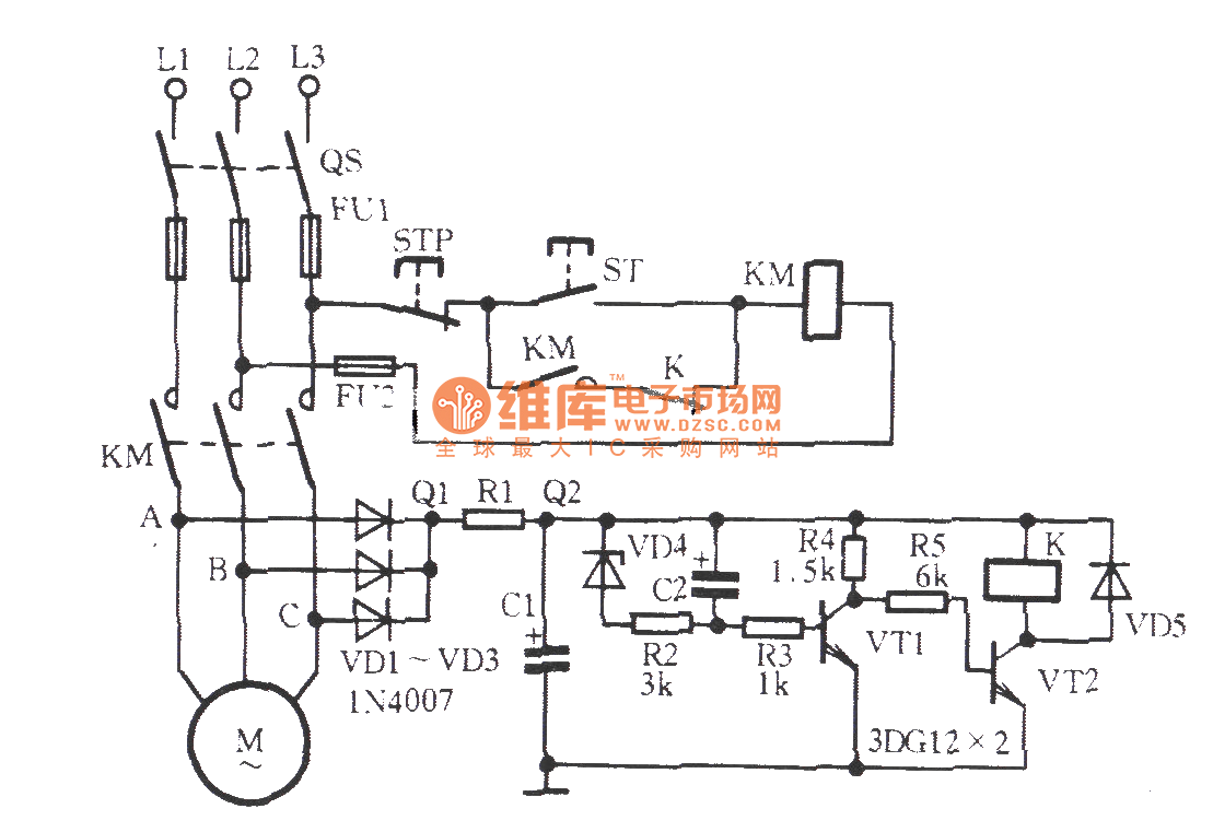 Three Phase Motor Phase Off Protection Circuit Relay Control Control Circuit Circuit