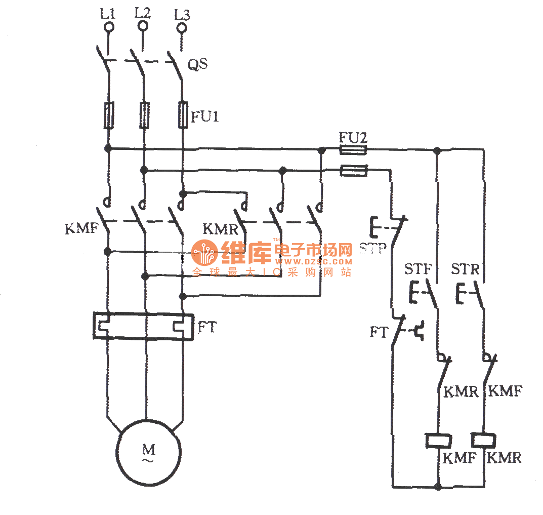 Three Phase Motors For Jog Commutation Circuit Relay Control Telephonerelatedcircuit Electricalequipmentcircuit