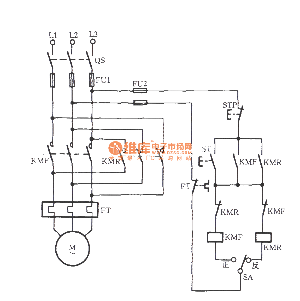 Three phase motor with pre selection switch commutation for 3 phase motor switch