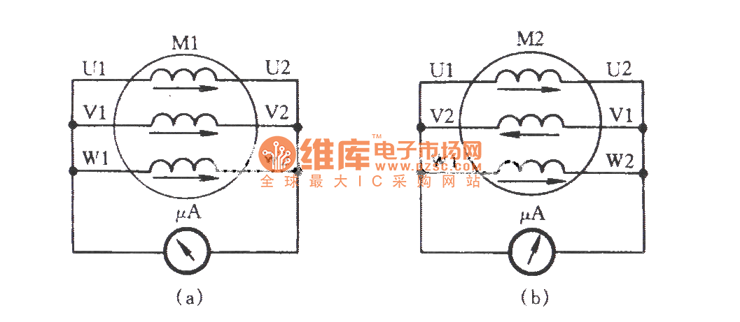 20117102190381 three phase motor winding reverse connection check circuit 3 phase motor winding diagrams at nearapp.co