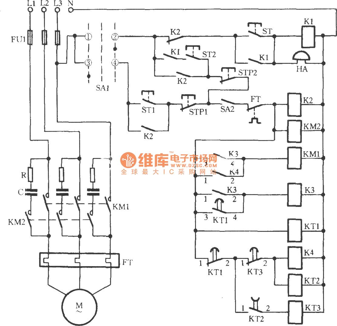Three Phase Motor Intermittent Starting Circuit Relay