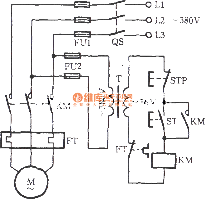 three-phase motor with 36V low-voltage control circuit