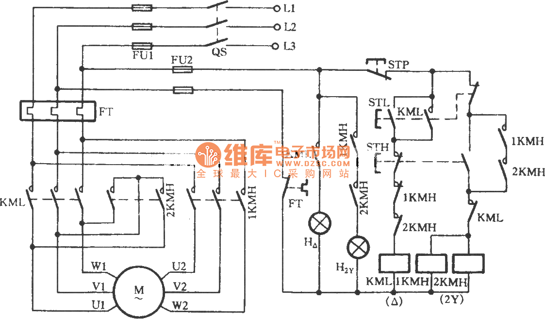2 Speed Motor Wiring Diagram : Two speed motor wiring diagram phase impremedia