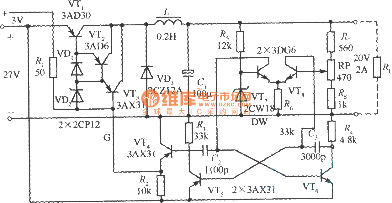 Practical Circuit Of The Step Down Chopper Type Switching Voltage Npn Automotivecircuit Diagram Seekiccom Stabilization Power Supply