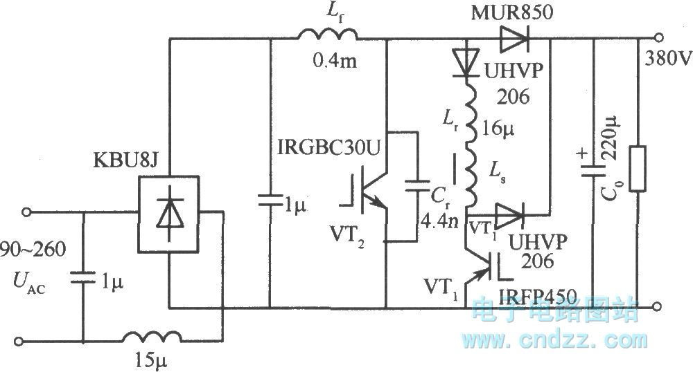 100khz 600w power factor correction circuit