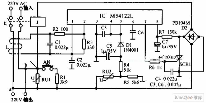 multi-functional leakage protection switch circuit - basic circuit - circuit diagram