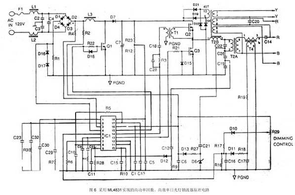 high power factor  high efficiency electronic ballast controller ml4831
