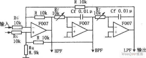 multifunctional active filter circuit - automotive circuit - circuit diagram
