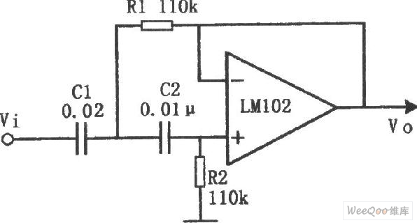 active highpass filter circuit - automotive circuit - circuit diagram