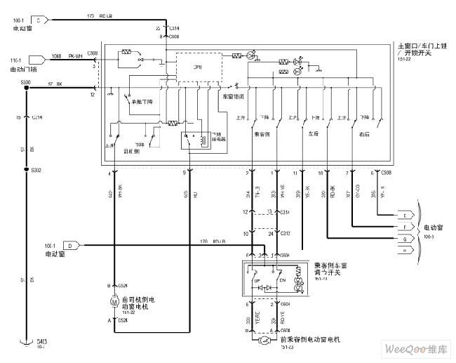 maverick 2005 electric windows circuit figure 1 - automotive circuit - circuit diagram