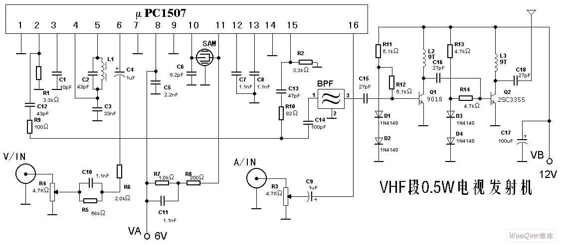 Vhf 0 5 W Tv Transmitter Circuit