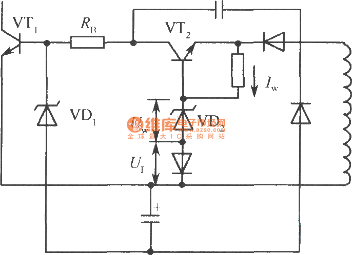 ringing type switching power supply constant current driving circuit