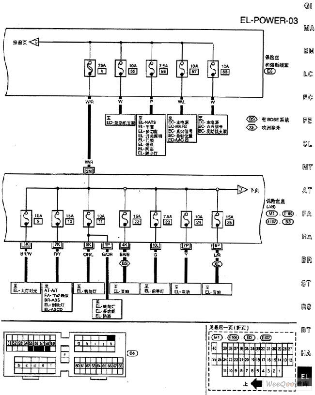 nissan a32-el power supply circuit  4