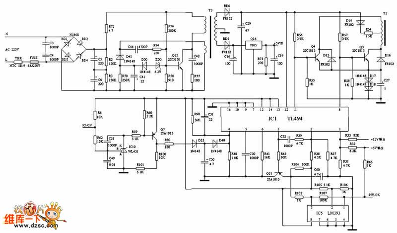 atx power circuit - power supply circuit