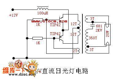 12v direct current fluorescent lamp circuit power supply. Black Bedroom Furniture Sets. Home Design Ideas