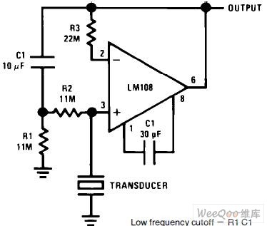 Piezoelectric_transducer_of_amplifier_circuit