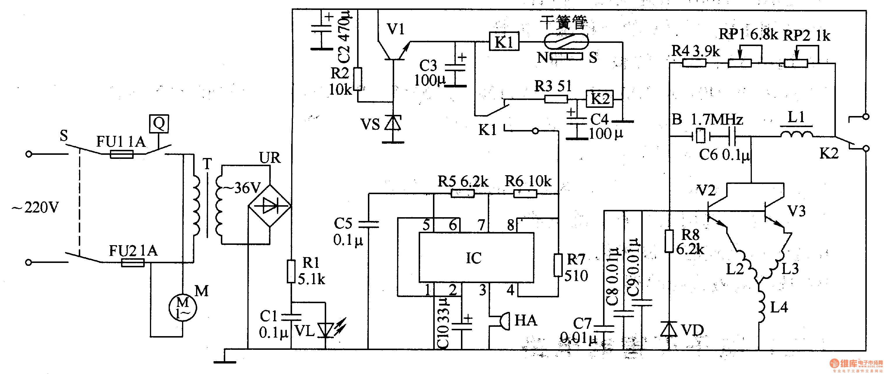 Ultrasonic Atomizer 2 Basic Circuit Diagram Powertooltorquecontrol Controlcircuit Seekic