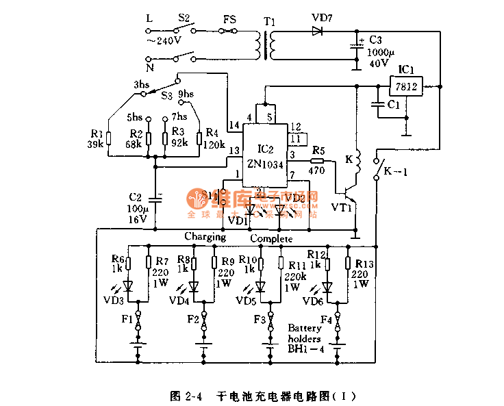 dry cell charger circuit diagram circuit and schematics