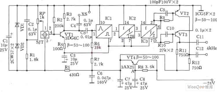 1024khz temperature compensation oscillator circuit diagram oscillator circuit