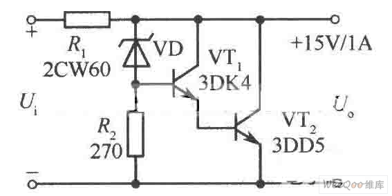 compact 15v 1a parallel regulated power supply circuit