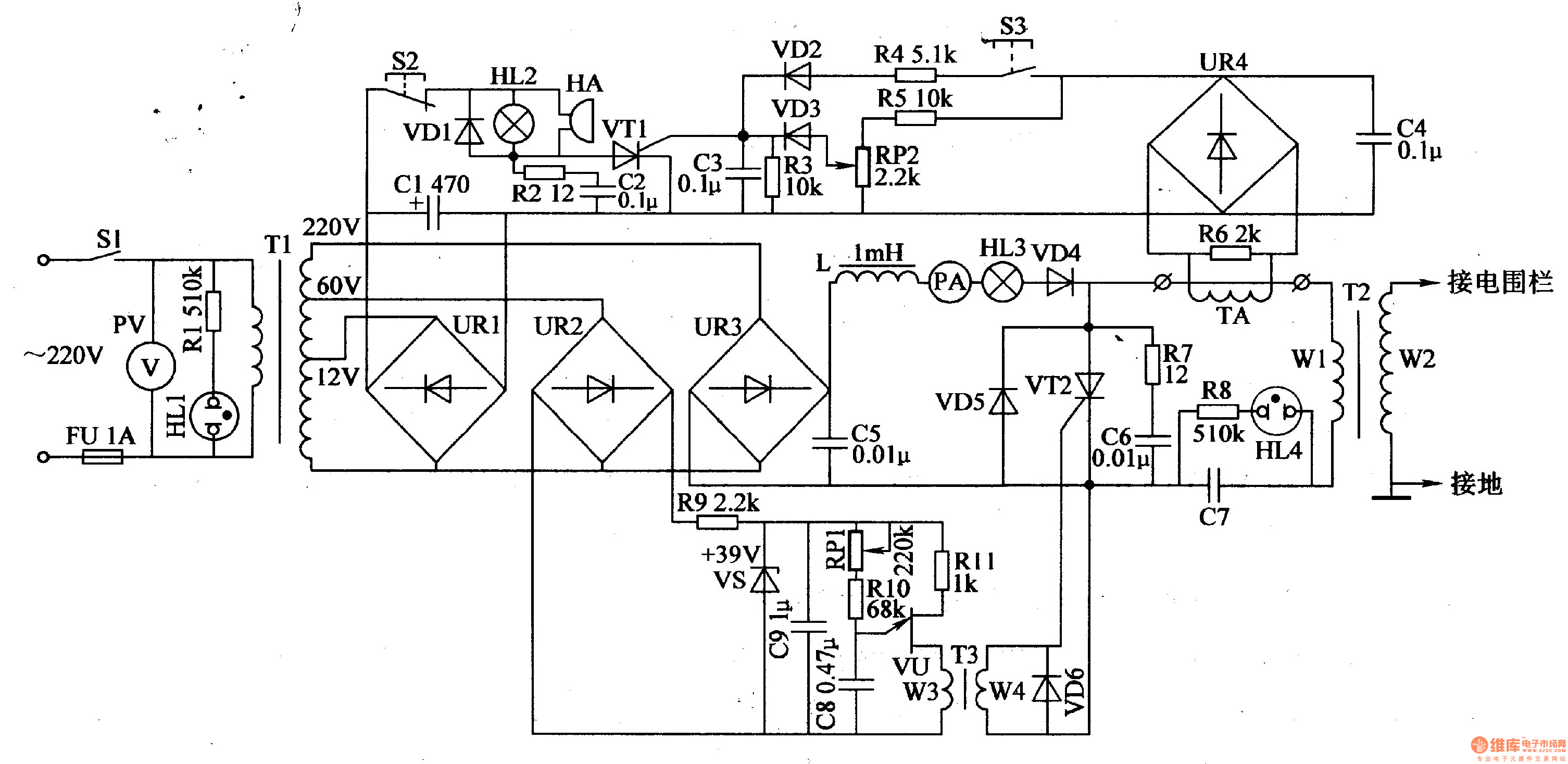 electric fence circuit diagram  u2013 the wiring diagram