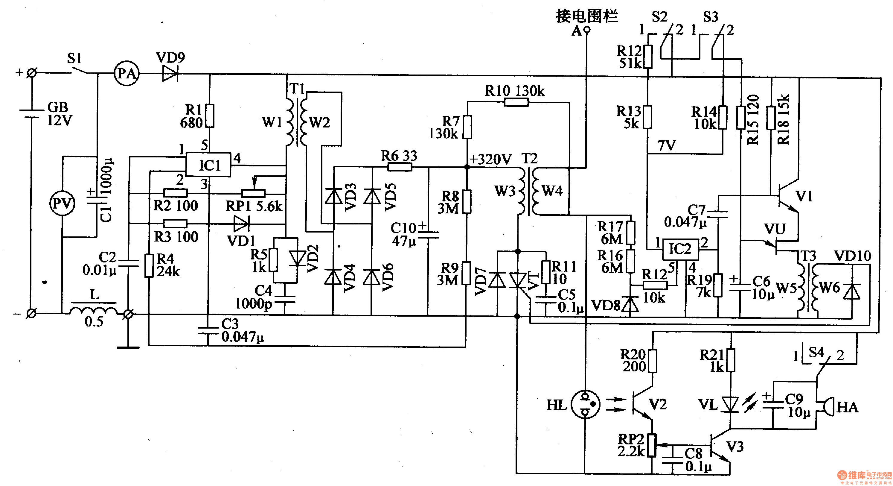 Electric Fence Circuit Diagram Readingrat Net