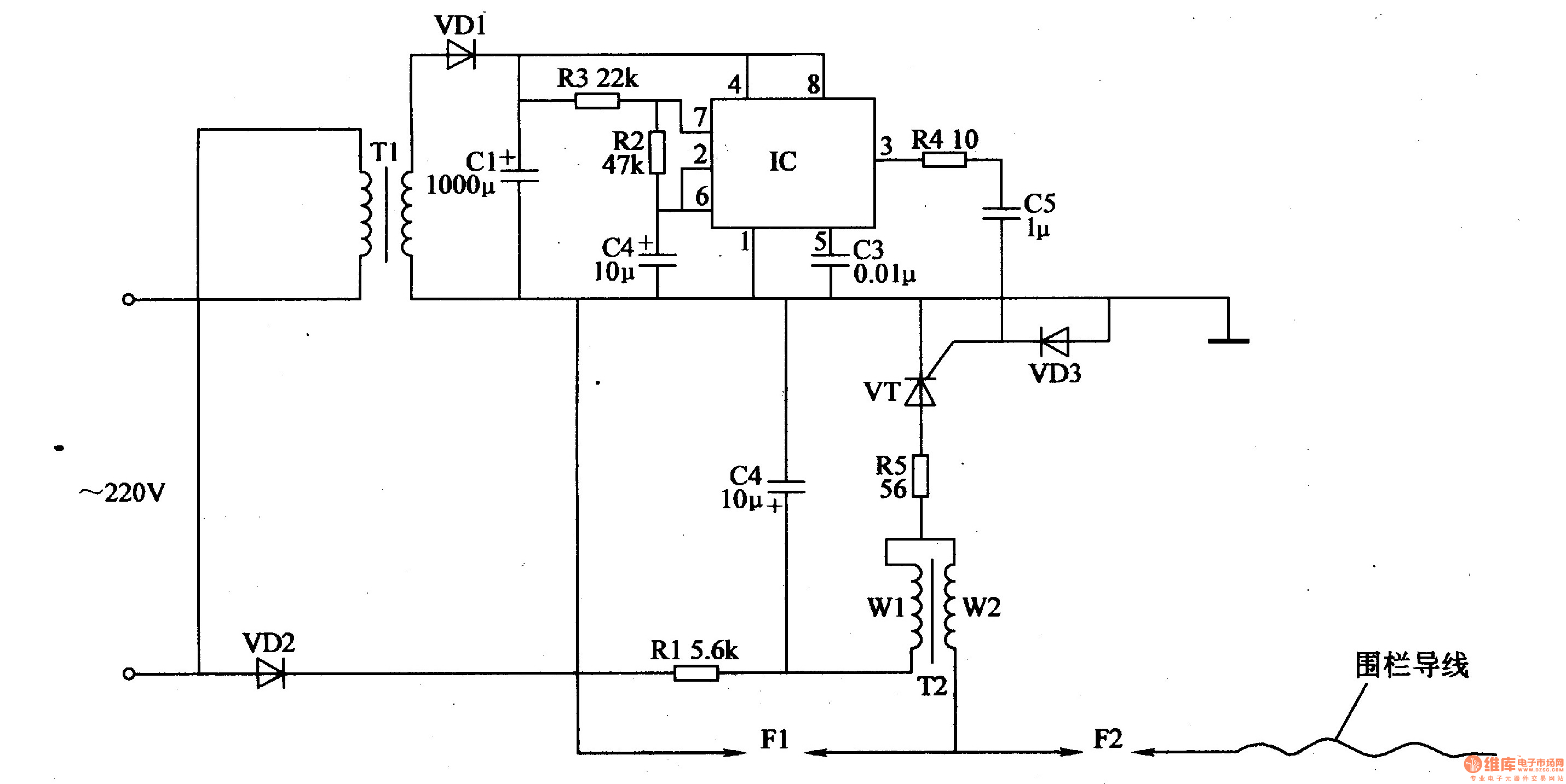 Electric Fence Control Circuit 2 Diagram Electriccircuit2jpg
