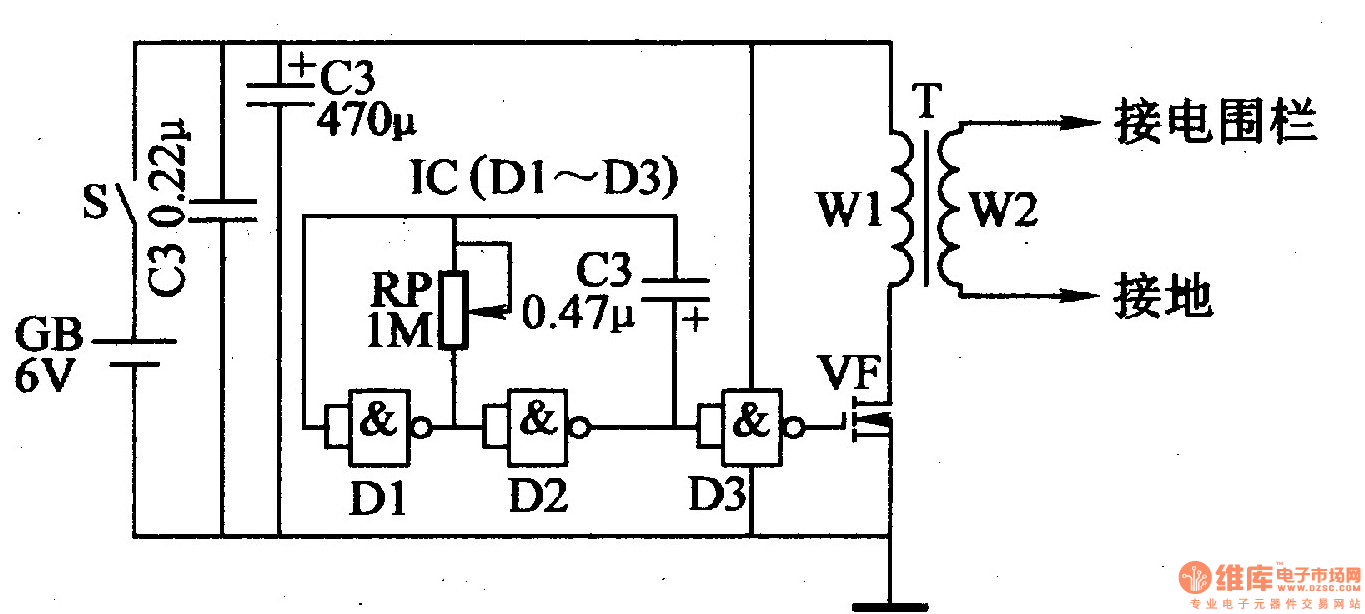 electric fence control circuit 6
