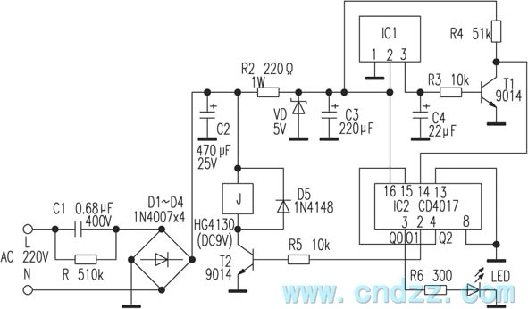 homemade simple remote control switch circuit - control circuit - circuit diagram