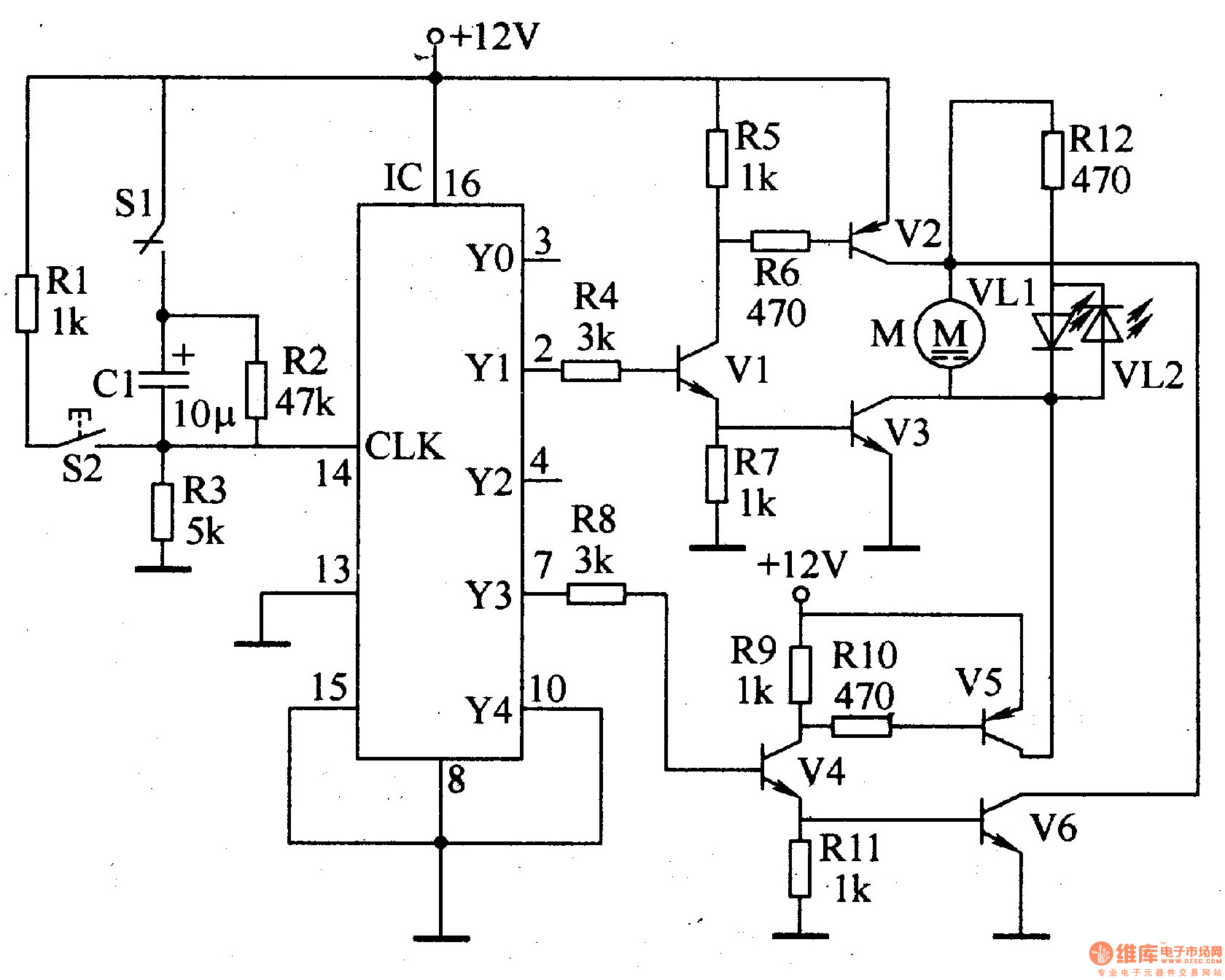 electric curtain controller 2 - control circuit