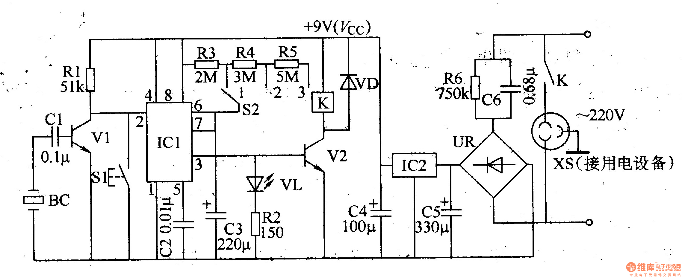 primary timing controller 2 - time control - control circuit - circuit diagram