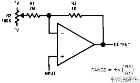 Hunchbacked in addition 19224482 besides Positive Negative Switch Schematic besides Operational  lifier further Offset voltage adjustment voltage follower circuit. on voltage converter circuit diagram
