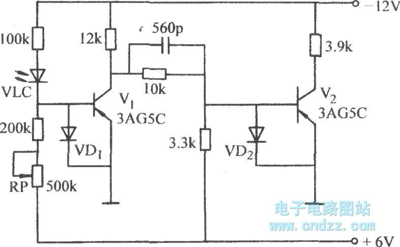 the two stage phase inverter circuit with diode protection