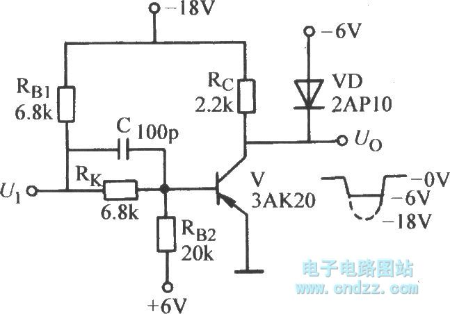 the high speed switch circuit with clamping diodes