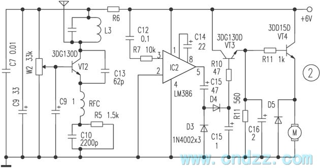 wireless proportion motor remote controller circuit