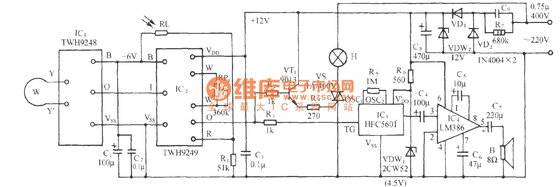 The Demon Daming Curse Audio Circuit Of Scan Detection Type Power Amplifier Audiocircuit Diagram Seekiccom
