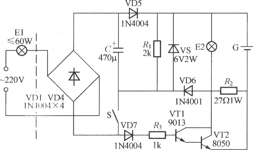 power failure emergency lamp circuit 3