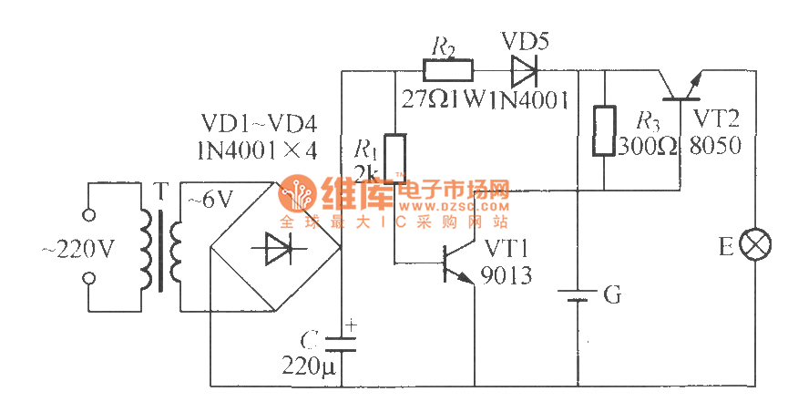 power failure emergency lamp circuit 2